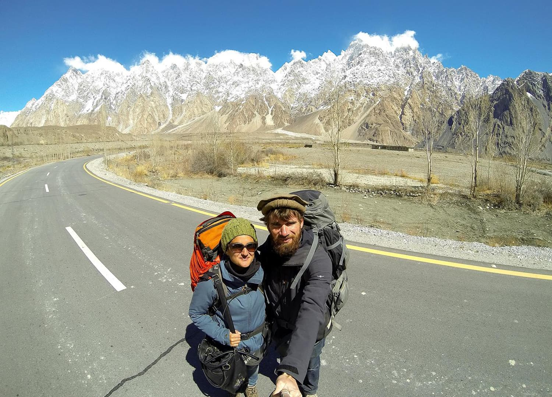 Karakoram Highway in Pasu.