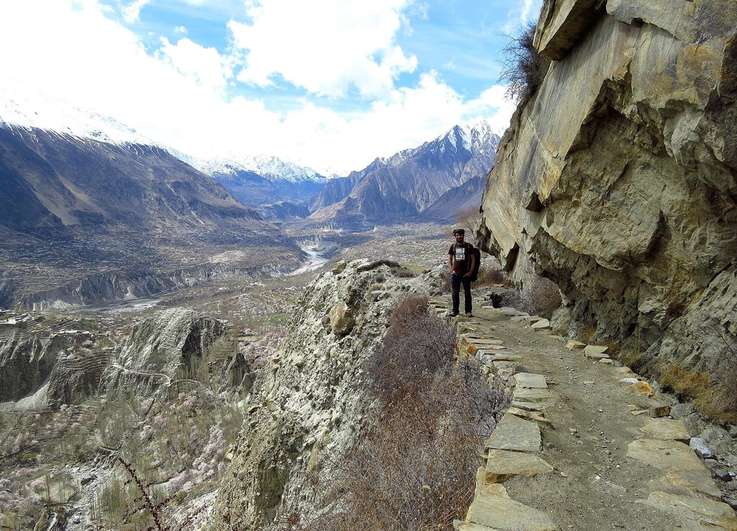 Hiking in Karimabad.
