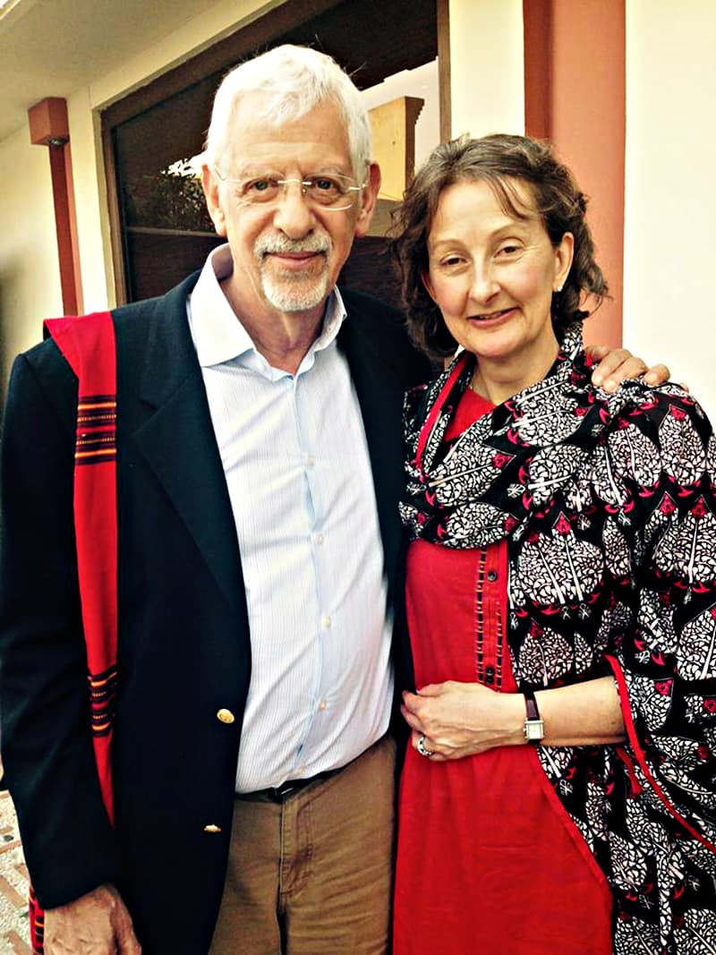 Mr Neudel and movie producer Alison Gilkey were in Lahore this week to visit a centre for the rehabilitation of disabled people. - Photo by author