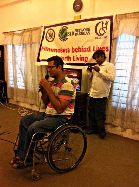 Shafiqur Rehman, disabled right activist. - Photo by author