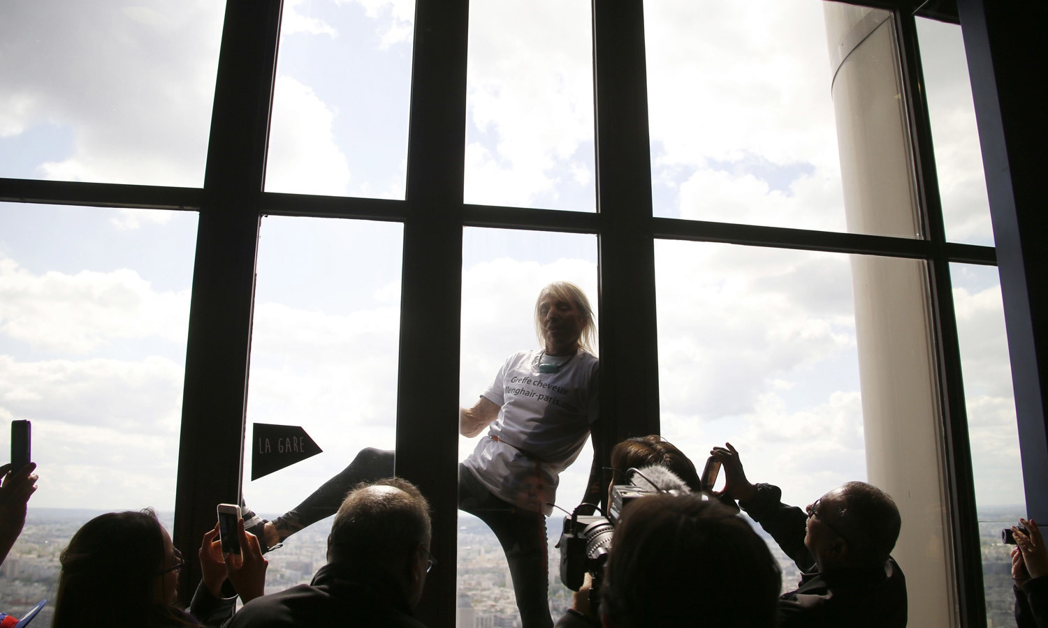 Alain Robert, the French urban climber dubbed Spiderman. – AFP