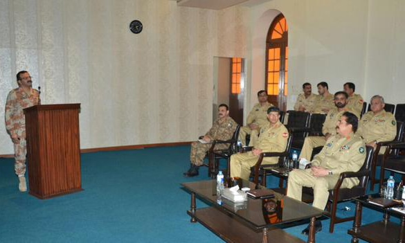 General Raheel said that more recent pattern of killings indicates a design which needs to be checked. -ISPR Photo