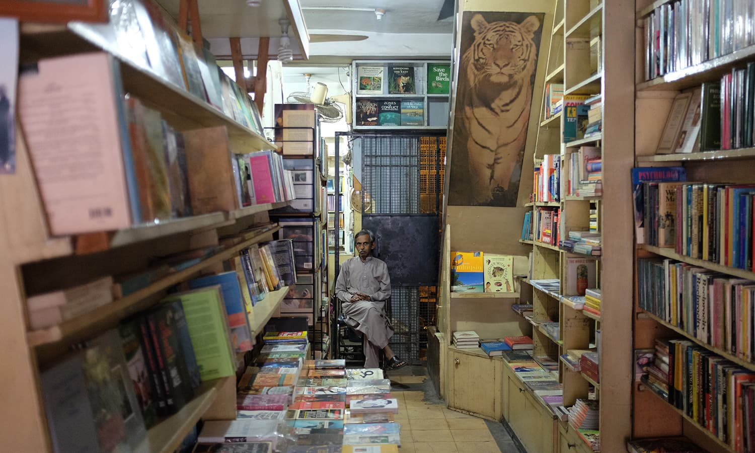 One of the booksellers at Thomas & Thomas. — Photo by Farooq Soomro