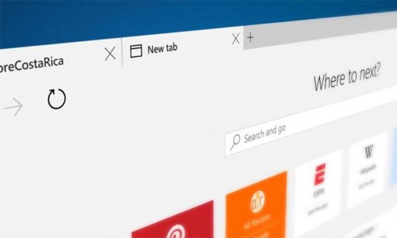 مائیکروسافٹ ایج — اسکرین شاٹ