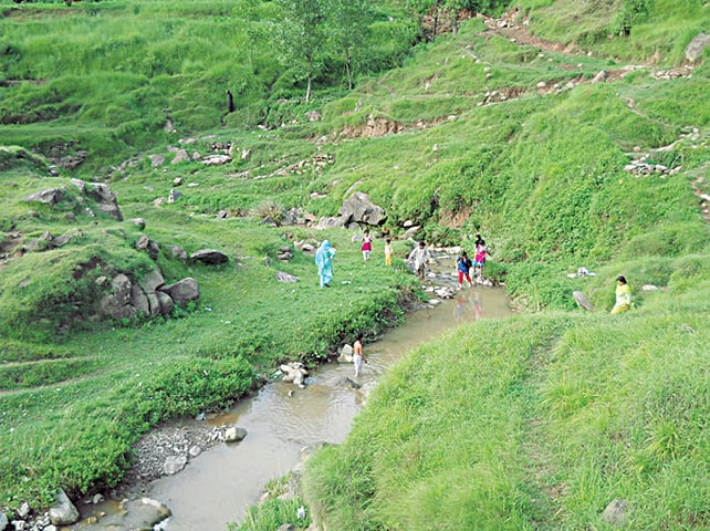 A brook in Dhirkot