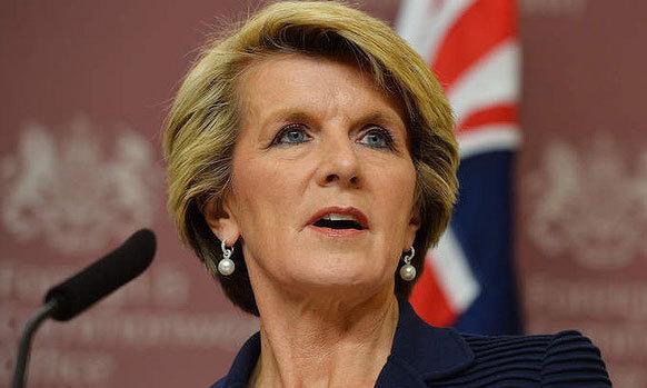 Australian Foreign Minister Ms Julie Bishop. — AFP/file