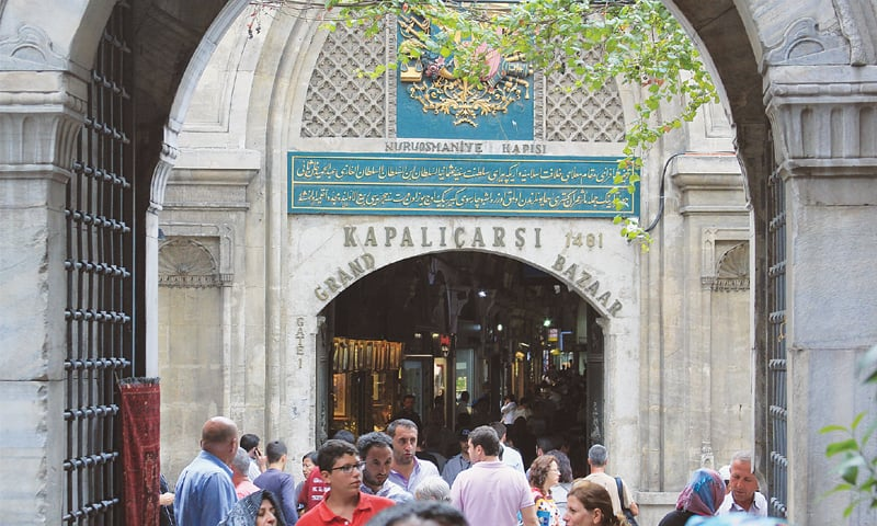 ISTANBUL'S Grand Bazaar attracts up to half a million visitors each day.