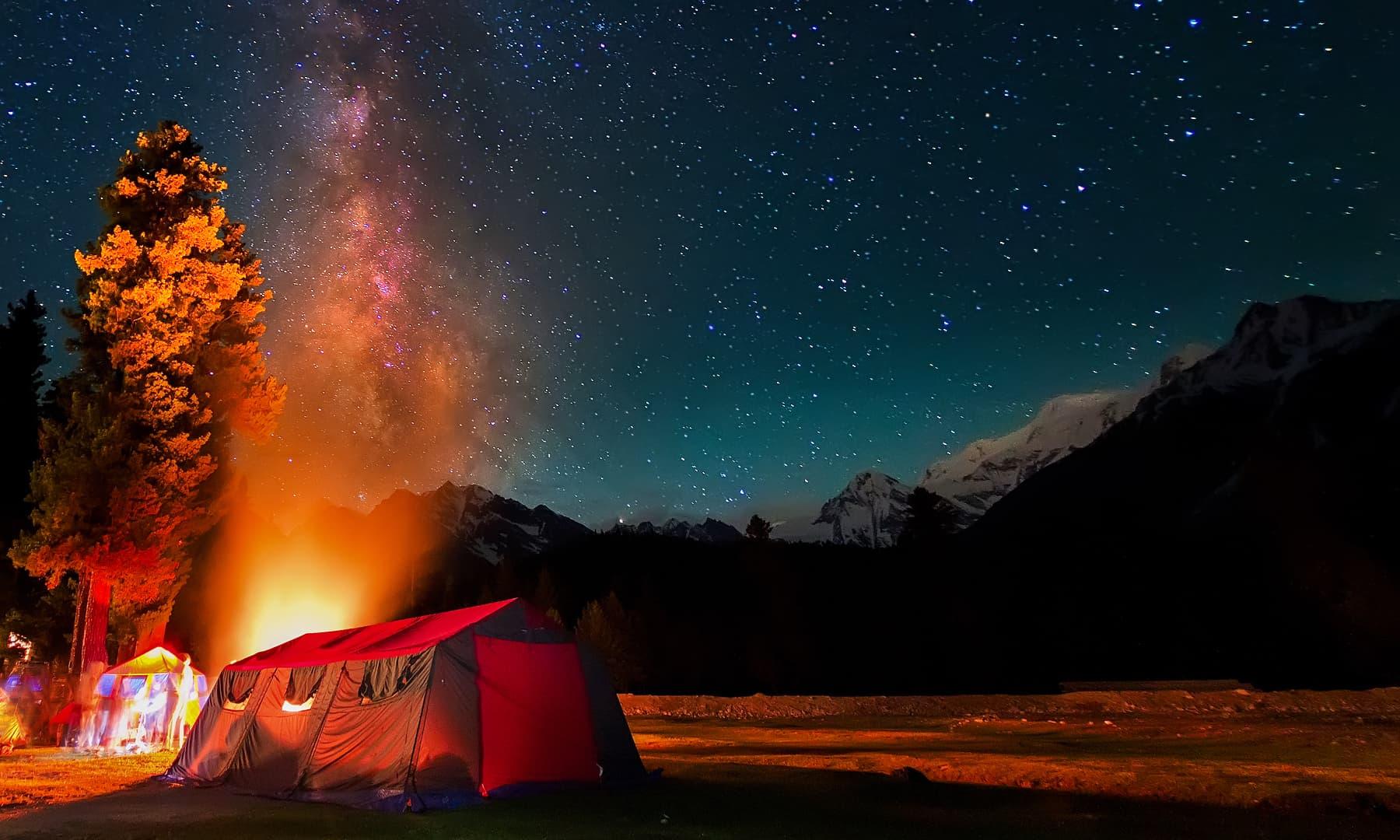Night in Rama Meadows. — Syed Mehdi Bukhari