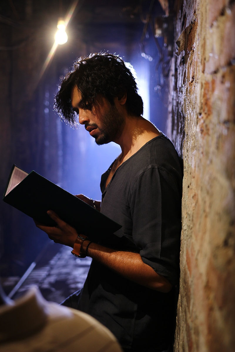 Playing the role of a contemporary poet as well as that of Meer, Fahad reads from a collection.— Publicity photo