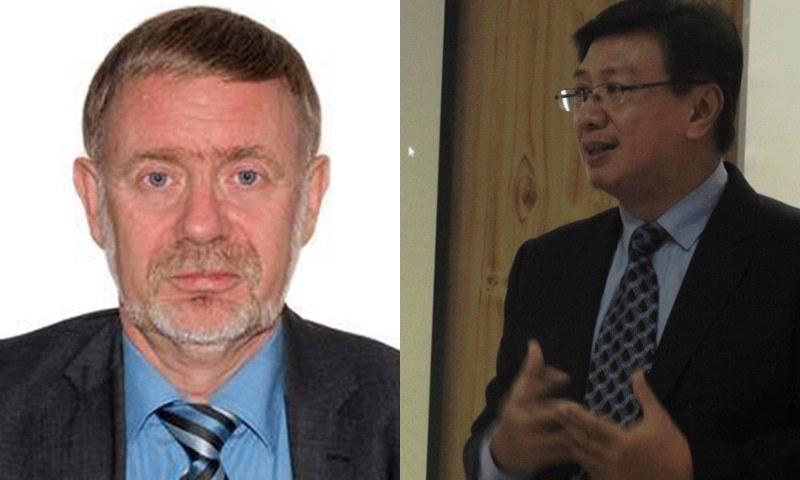 Ambassador of Norway Leif Larsen (L)  and Ambassador of Philippines Domingo D Lucenario Jr (R) killed in the crash. — photo courtesy DawnNews and Philippines Embassy