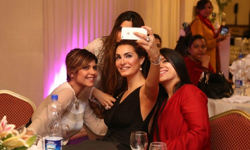 Hadiqa, Nadia and Momina. — Publicity photo