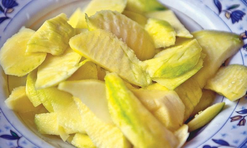 For preparing pickle, chutney or sherbet.