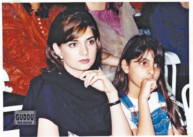 Mahnoor and daughter, Photos: Guddu Film Archive