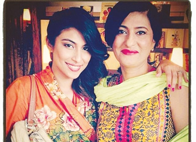 Meesha Shafi and Saba Hameed