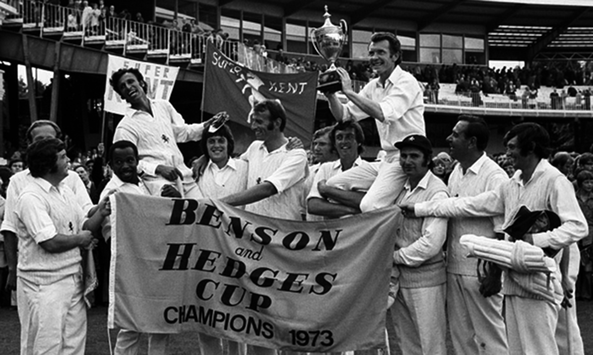 1973, winning the Benson & Hedges Cup, Asif Iqbal was absolutely loved by the Kent fans. —Photo courtesy: PA Photos