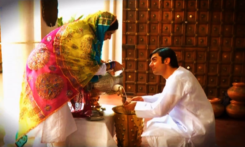 Sanam Baloch and Fawad Khan in 'Dastaan'.