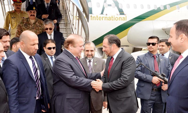 The prime minister and his accompanying delegation was received at the airport by Afghan Foreign Minister and Minister of Finance. —Photo Courtesy: PM House