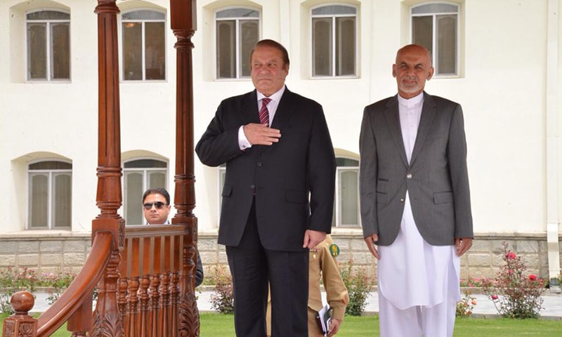 A guard of honour was presented by a contingent of the Afghan army to the premier upon arrival. —Photo Courtesy: PM House