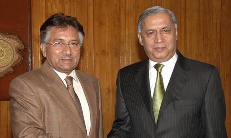 سابق وزیر اعظم شوکت عزیز اور جنرل (ر)پرویز مشرف—تصویر رائٹرز