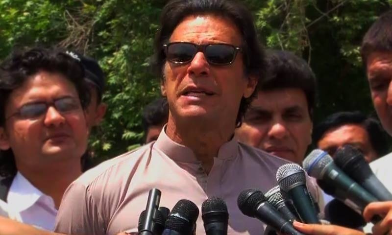 """Sending the Rangers to Karachi is like treating cancer with Disprin. It will only make a difference for a short while,"" said Imran Khan. ─ DawnNews screengrab"