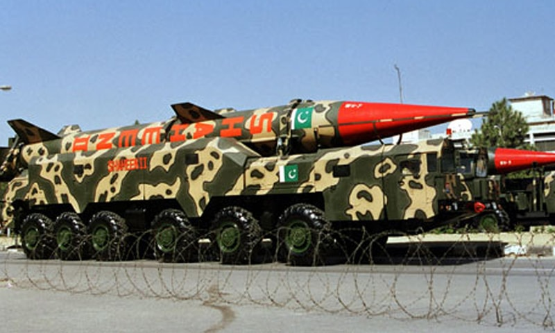 A long-range missile at a parade in Islamabad | Reuters