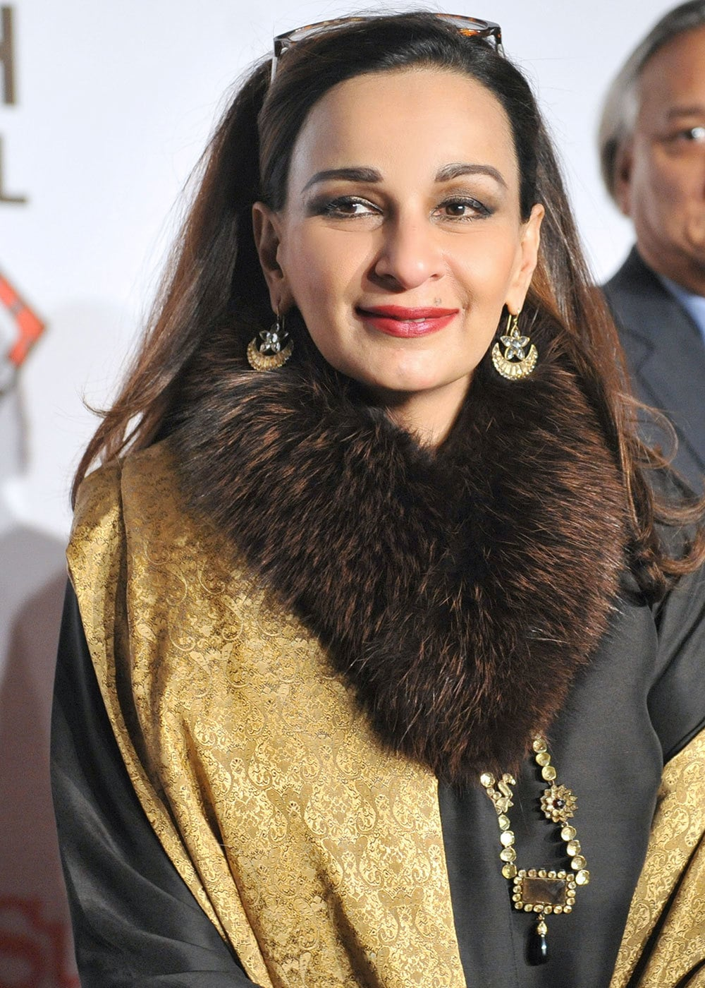 Sherry Rehman in what we hope is a faux fur collar!
