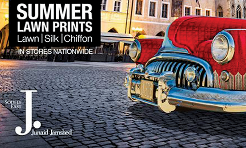 J. by Junaid Jamshed broke clutter with its vintage cars themed campaign.