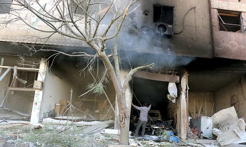 Syria air raids kill 48 civilians; Turkey downs 'Syrian helicopter'