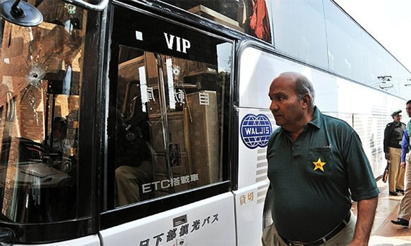 Sri Lanka were on their way to Gaddafi Stadium when militants opened fire on the team bus in 2009. ─ AFP/File
