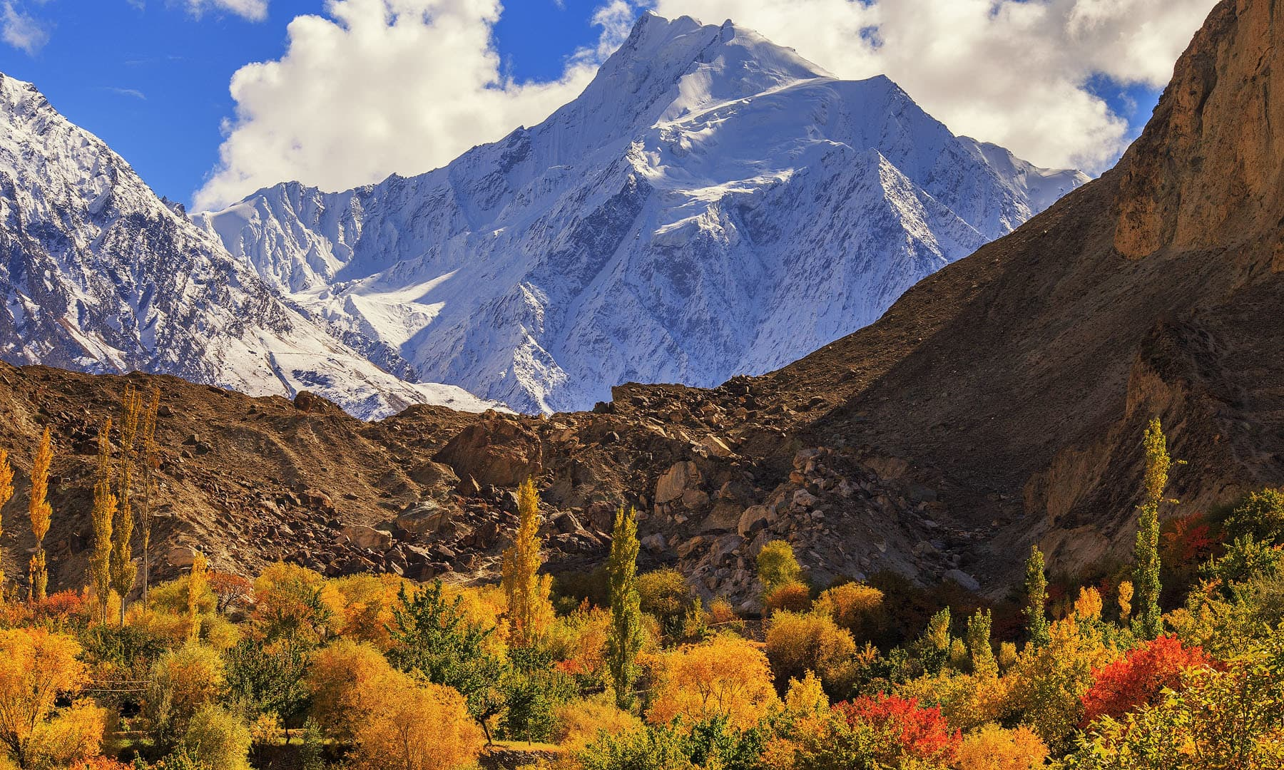 Rakaposhi view from Nagar.