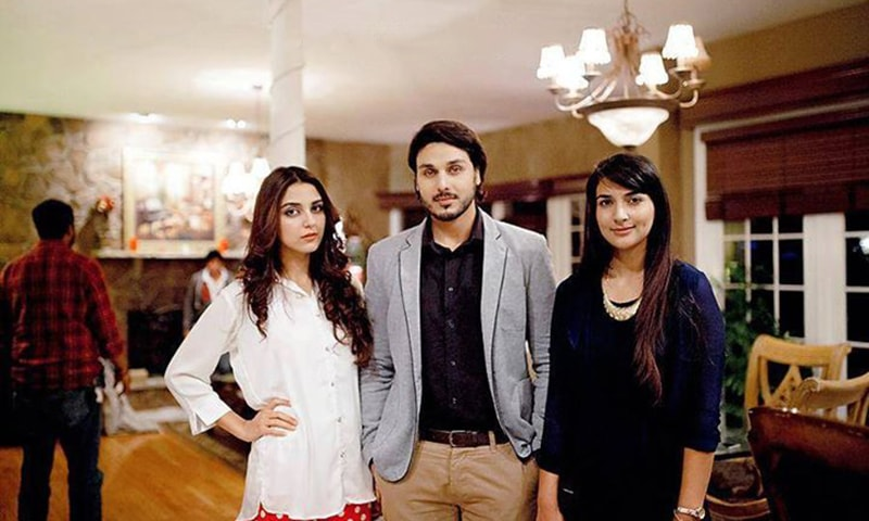 Maya Ali, Ahsan Khan and Rubab Hashmi figure centrally in Zid — Photograph by Maria Photography