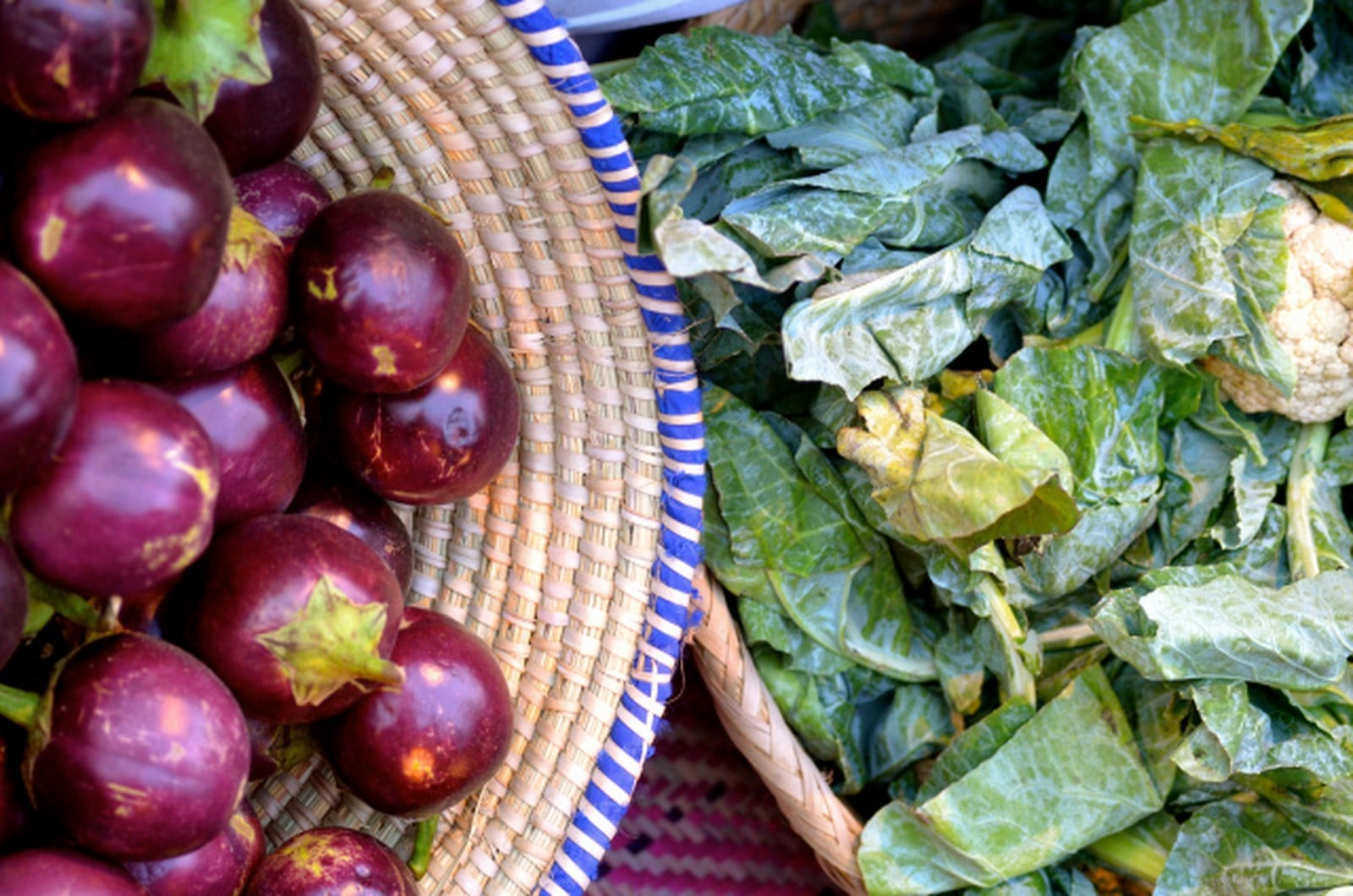 The market features healthy, organic produce.