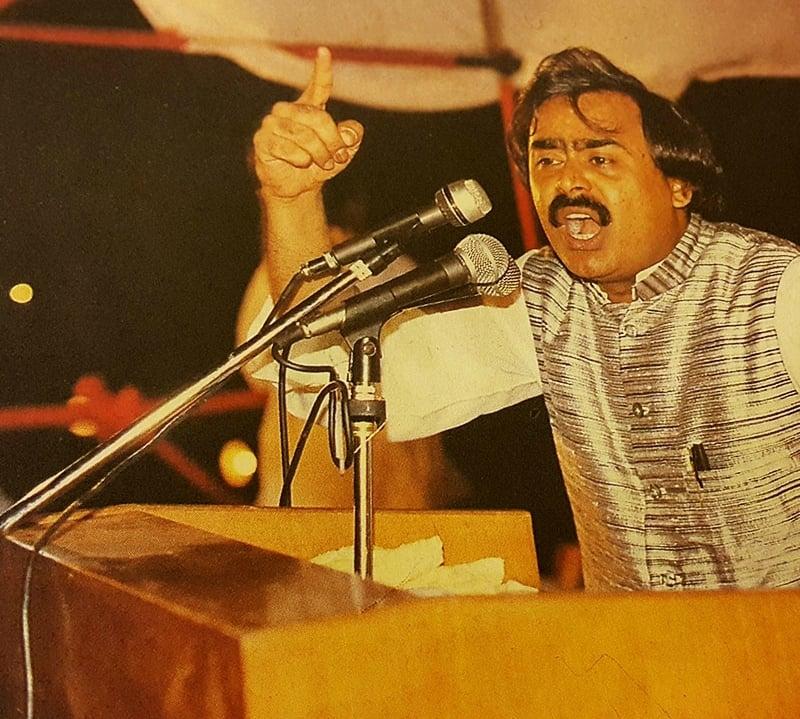 Ever blazing waistcoat— Photo Courtesy: Dawn Herald, May 1994