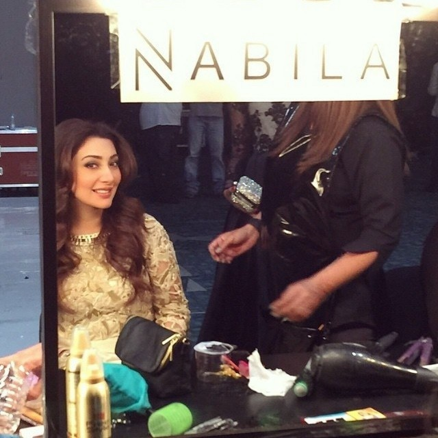 Aisha Khan gets dolled up by NPro stylists. — Photo courtesy: Instagram