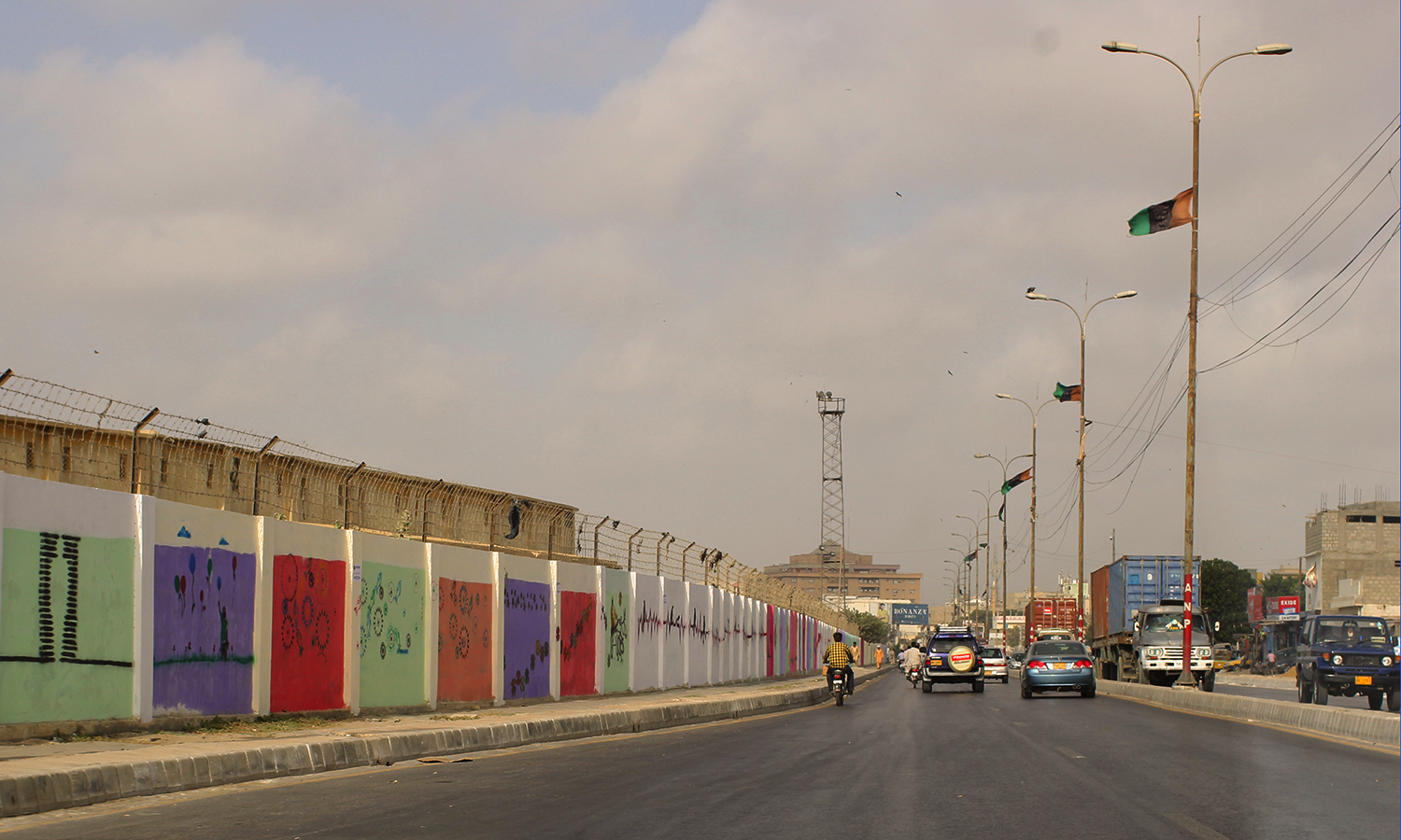 MT Khan Road after being painted