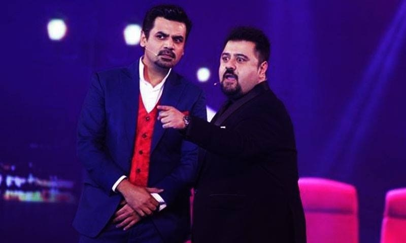 The audience was in fits once these two took over. —Photo courtesy: Hum Awards' Facebook page