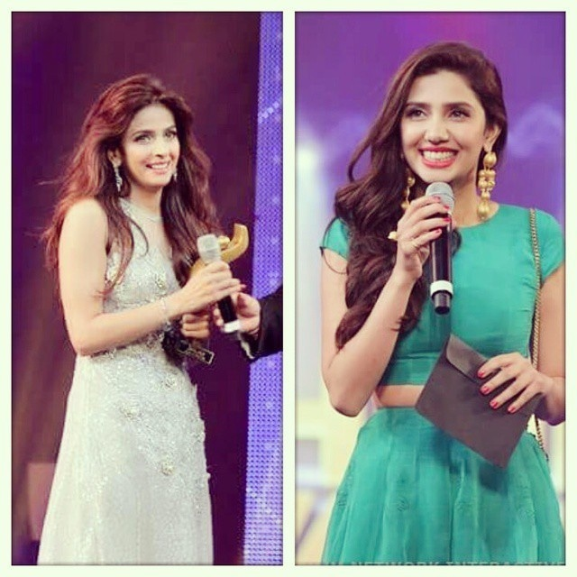 Saba Qamar and Mahira Khan took the less is more approach  —Photo courtesy: Instagram