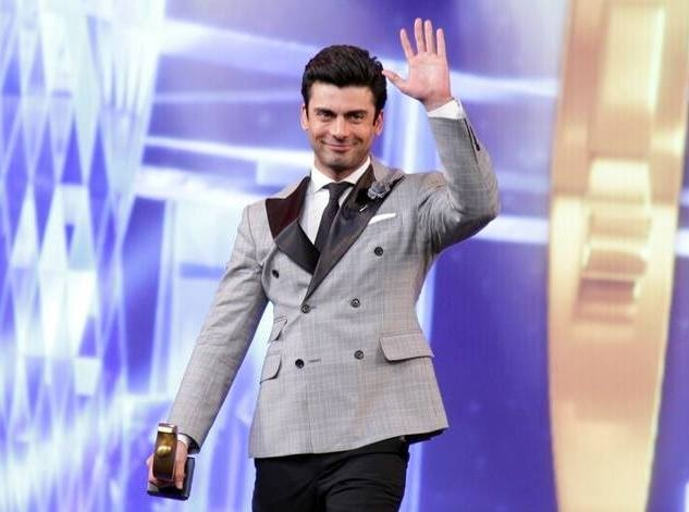 Fawad Khan's look didn't quite work, but we love him anyway. —Photo courtesy: Hum Awards' Facebook page