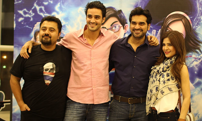 Sikander Rizvi with Humayun Saeed, Ahmad Ali Butt and Ayesha Omer at a recent event.