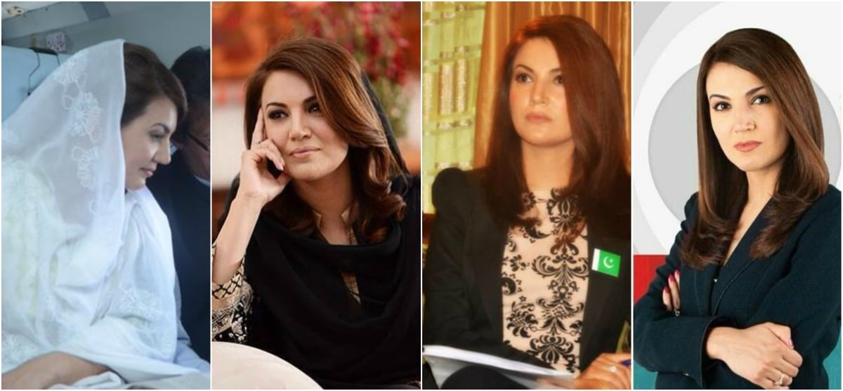In with the new (L) out with the old (R). Reham's look has become more traditional after she became Mrs Khan.