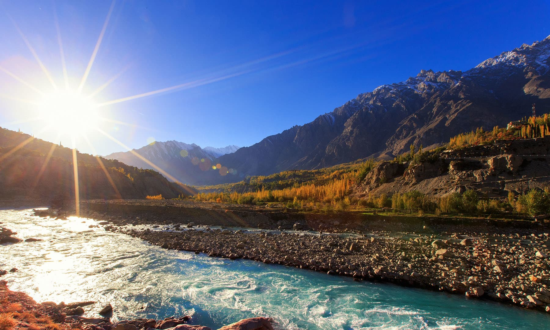 دریائے ہنزہ — فوٹو سید مہدی بخاری