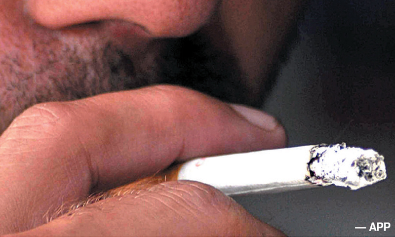 In Pakistan an estimated 40 per cent males and nine per cent females are smokers and the number is increasing day by day.—APP/File