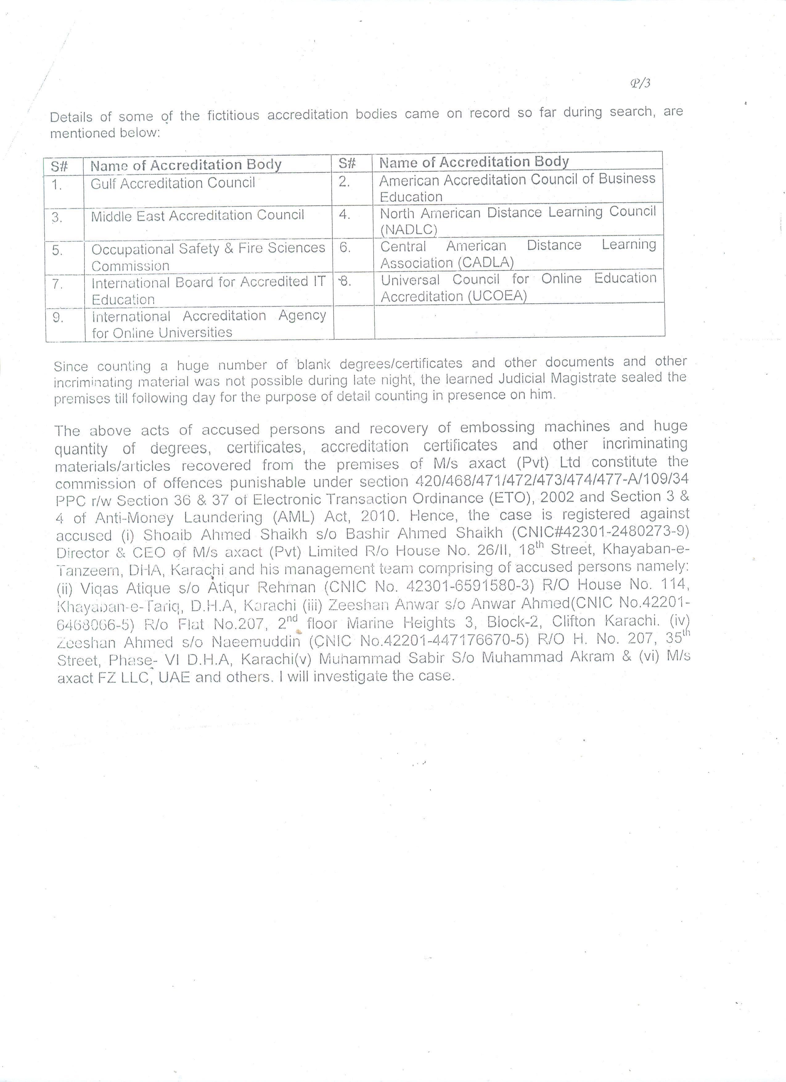 A copy of the FIR obtained by Dawn