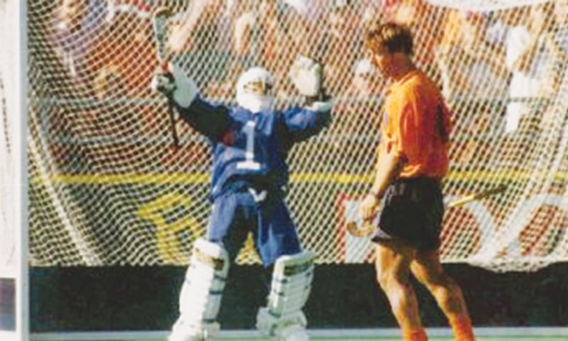 The Dutch threw everything they had at him but could not find a way past goalkeeper Mansoor Ahmad