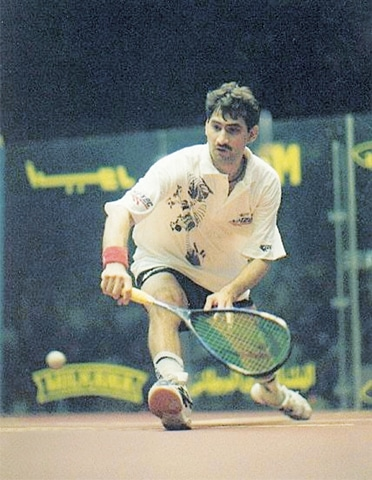 Jansher Khan extended Pakistan's absolute dominance in squash after long-term adversary Jehangir Khan retired from the international arena