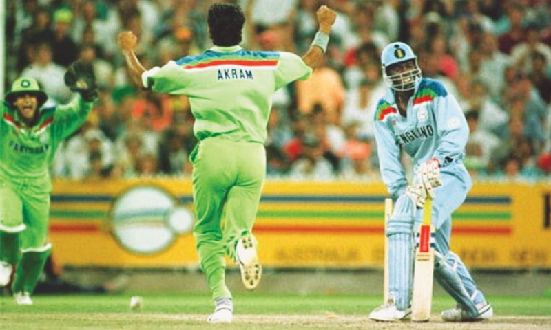 Wasim Akram blows the wind out of the English sails en route to a man-of-the-match performance