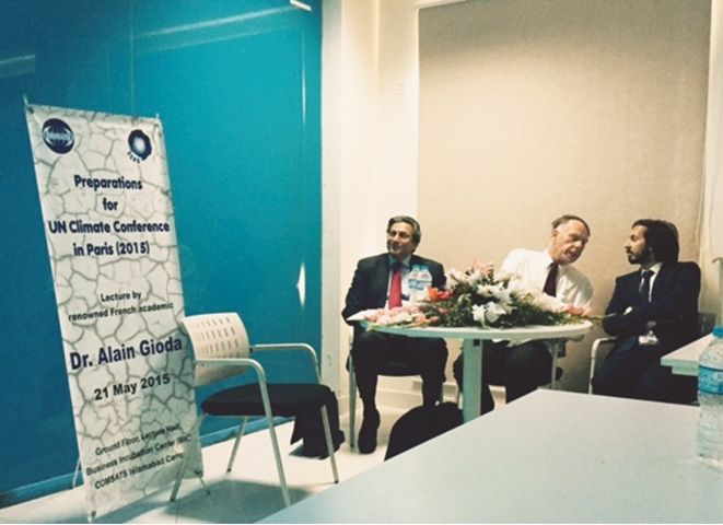 Ambassador Shahid Kamal, French expert Dr Alain Gioda and MNA Malik Uzair, Photo by the writer