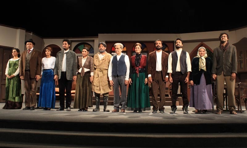The actors take a bow. — Photo by Hussain Ali