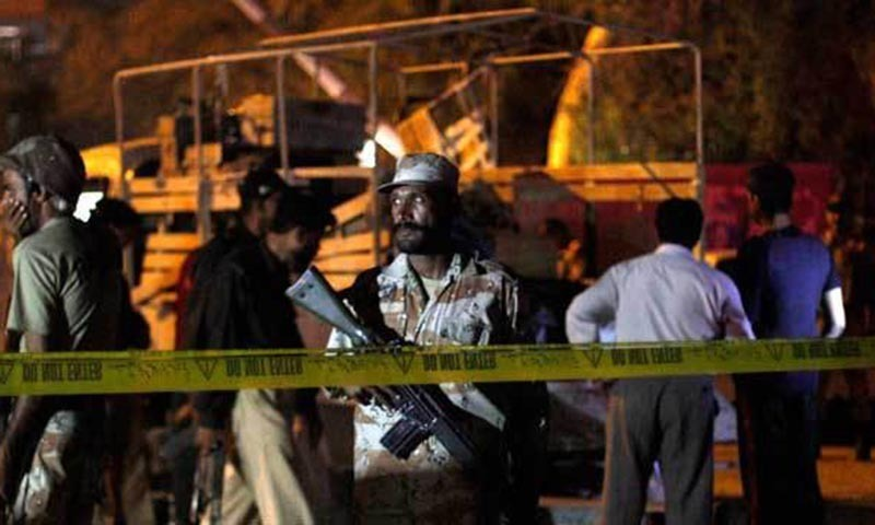Information minister said it was a suicide blast in which a sub-inspector lost his life while trying to stop the suicide bomber. -File Photo