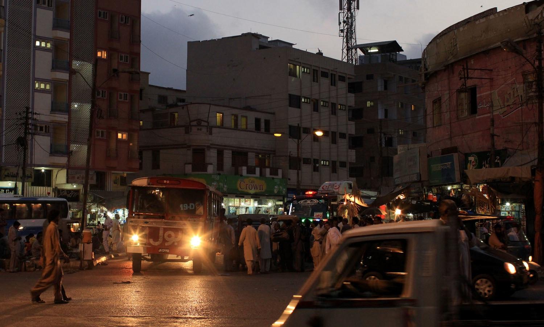 Karachi's undulating train station.